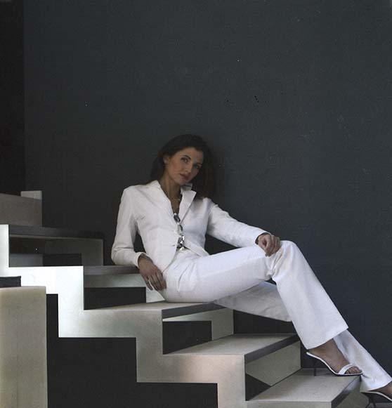 White Suit Lady Steps